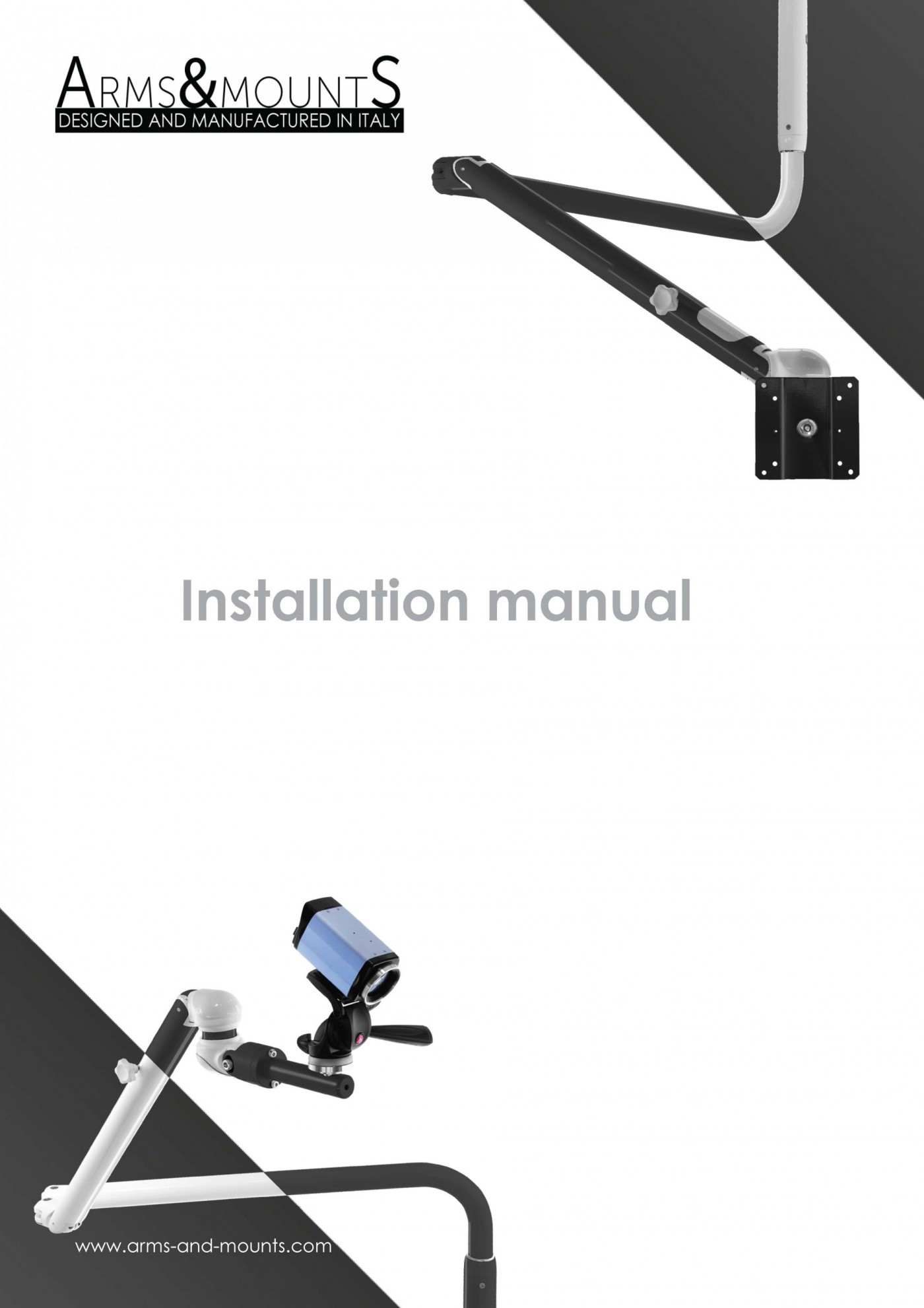 Manual arms and mounts, camera arm, ceiling installation